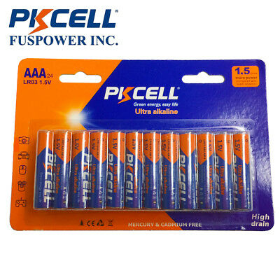 24x 1.5V LR03 MN2400 AAA 3A Alkaline Industrial Batteries for Remote Control Toy