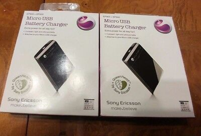2 x Sony Ericsson EP-900 Micro USB External Battery Charger BST-38 BST-41 BST-43