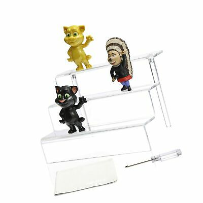 Acrylic Riser Stand Shelf for Amiibo 3 Steps Acrylic Display for Decoration a...