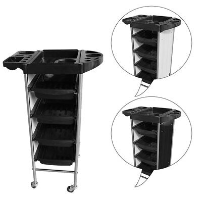 5 Drawers Salon Hairdresser Barber Hair Storage Trolley Beauty Drawers Spa Cart