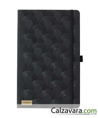 Notebook Castelli Black & Gold Collection cm 13x21 a Righe - Deco Black