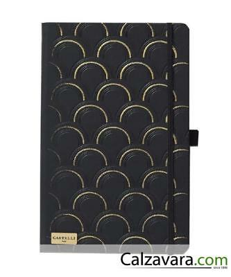 Notebook Castelli Black & Gold Collection cm 13x21 a Righe - Deco Black&Gold