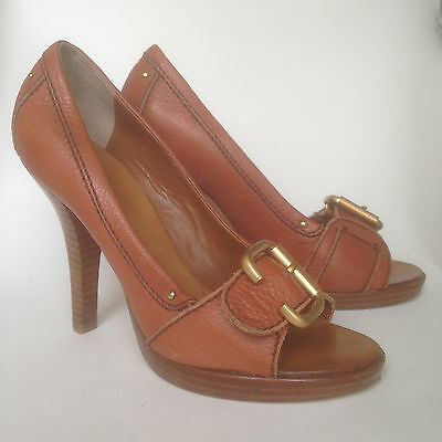 """Stiletto Ladies Shoes, """"Robert Robert"""", All Leather, Natural Tan, Size 38"""