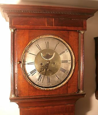 "Antique Oak Brass Penny Moon Dial "" Glosop ""  Longcase / Grandfather Clock"