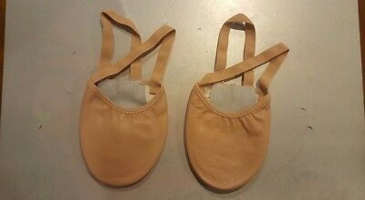ladies leather half sole Ballet dance shoe Tan sz9 BNWOT (52)