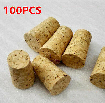 100Pcs New High Quality Conical Natural Cork Bottle Stoppers Wine Corks Crafts