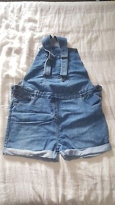 maternity short dungarees denim size 18