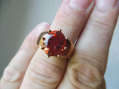 VERY NICE RING__925 Silver Red-and Gold-Plated__with hellrotem STONE __ MD AG __