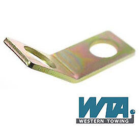 Breakaway & secondary cable vehicle fixing plate for two bolt fixing towballs