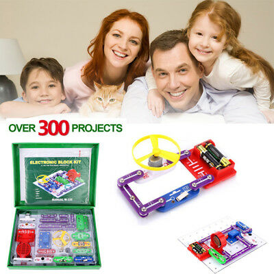 W-335 Electronics Discovery Kit DIY Circuits Blocks Kids Science Educational Toy