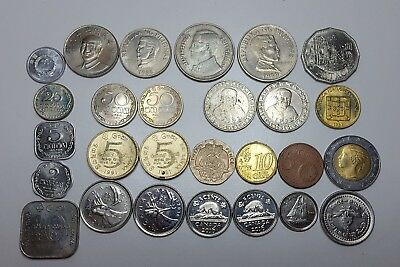 Foreign coins lot, currency. Asia, Europe, Canada. collectors coins