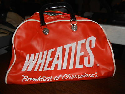 Vtg 1970's Wheaties Cereal Breakfast of Champions Gym Duffle Bag Advertising Exc