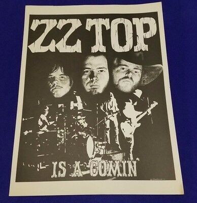 "Original Authentic 1973 Zz Top 17"" X 23"" Concert Poster"