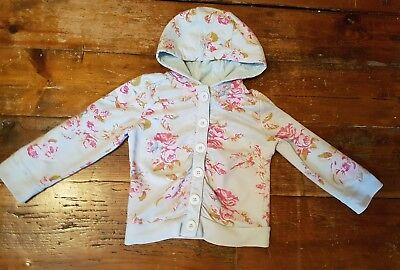 Girls Next 3-4 years hooded jumper/top/jacket floral (2-3?)