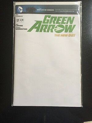 Green Arrow #17 Blank Variant Jeff Lemire DC New 52 Hard To Find NM