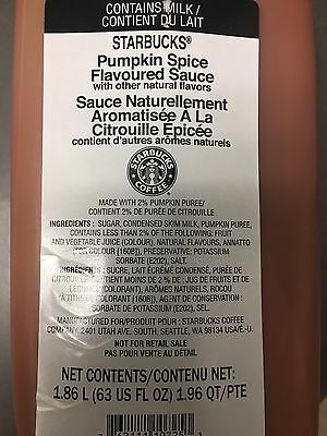 Starbucks Pumpkin Spice Sauce (Seasonal)