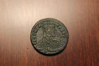 LEO VI the WISE 886AD Constantinople Follis Medieval Byzantine  - Nice coin!