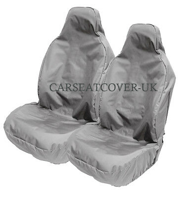 BMW 3-Series Convertible - H. Duty Grey Waterproof Car Seat Covers - 2 x Fronts