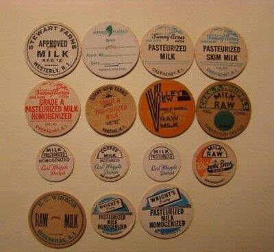 22 Diff.ri.rhode Island Farm,dairy,milk Bottle Caps