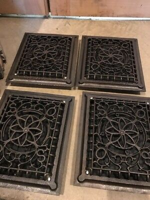 Br 7 Antique Cast-Iron Heating Grate  4 Available Price Each 11.75 X 9.75