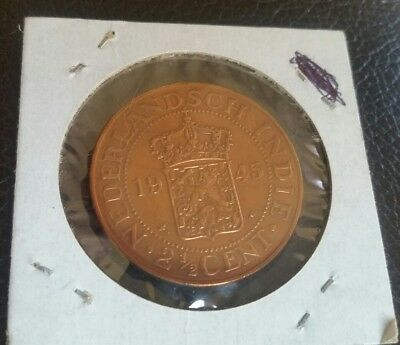 Netherlands East Indies 2-1/2 Cents 1945