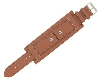 Genuine Leather Tan Colour Military Cuff Watch Strap 18mm 20mm 22mm and 24mm