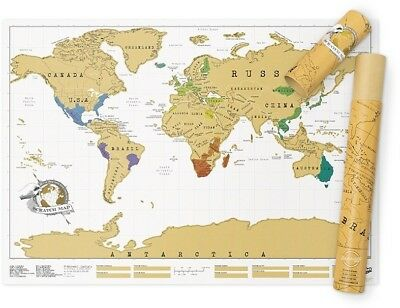 Scratch Map Original Personalised World Map Poster, Travel Gift - Luckies Of