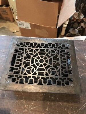 BR 20  3 Av Priced each antique cast-iron heating Grate 9.75 x 11 5/8