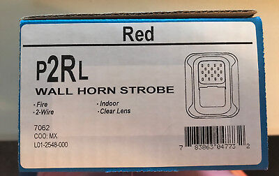 System Sensor Wall Horn Strobe P2Rl Red Fire Brand New On Sale!!