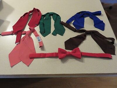 Lot of 5 Western Neck Ties. Bolas + RED Bow Tie   Colorful Vaquero
