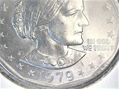 Going Great!  Susan B. Anthony 1979 P $ Wide Rim Near Date Error, Great Buy!!
