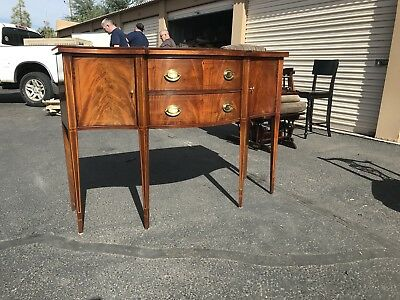 Stunning Antique Mahogany Sideboard Table
