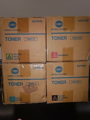 Konica Minolta Printer Set TN611Y, TN611M, TN611C & TN611K