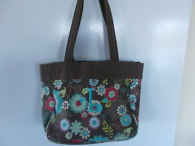 "Thirty-One Fanfare Monogramed ""L"" Tote Bag Pre-Owned Free Shipping !"