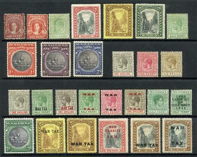 Bahamas QV - GVI Mint & Unused Lot. Cat approx £300. Values to 3/-