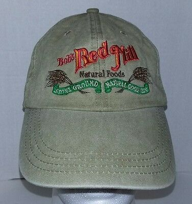 BOB'S RED MILL - NATURAL FOODS - ADJUSTABLE BALL CAP HAT Canvas Strap back