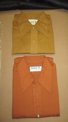 Vintage  Mach II Arrow Lot of 2 Mens Shirts The Swagger 15 - 15 1/2