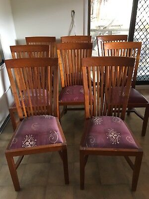 Solid Teak Dining Chairs 8