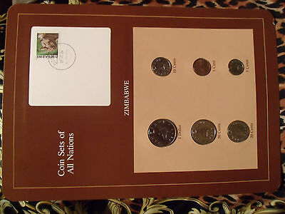 Coin Sets of All Nations Zimbabwe 1980 - 1983 UNC Rhino