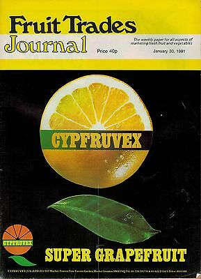1981 30 JAN 57340 Fruit Trades Journal Magazine BRAZIL ALL SET TO ENTER UK TRADE