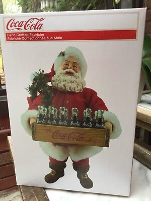 Kurt S.Adler Coco-Cola Santa Clause Christmas Figure (Hand-Crafted Fabriche)