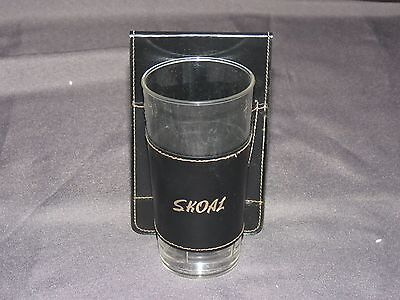 t3 Skoal Spit-toon Plastic Cup with Leather Holster / Holder  - NEW
