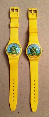 """TWO (2) Vintage """"Little Sprout"""" Green Giant Promotional Quartz Watches"""