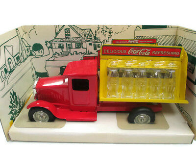 Coca-Cola 1930s Bottling Truck by Gear Box with 10 Miniature Glass Bottles