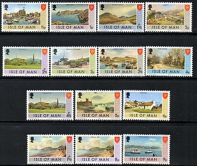 (Ref-12017) Isle of Man 1973-75 Pictorials/Scenes to 9p Mint (MNH) SG.12 Onwards
