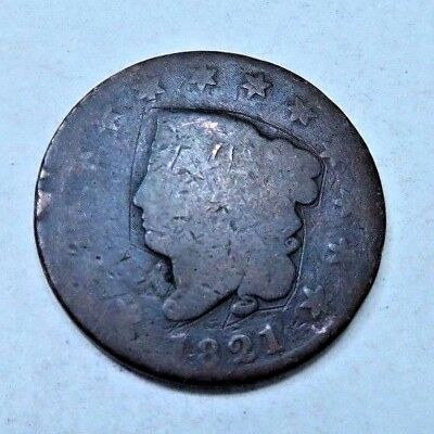 1821 Coronet Head Large Cent // Semi-Key Date! // (LC347)