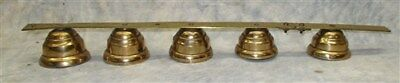Lot 5 Hanging Brass Bells General Store Door Bell Chimes Horse Sleigh Vintage