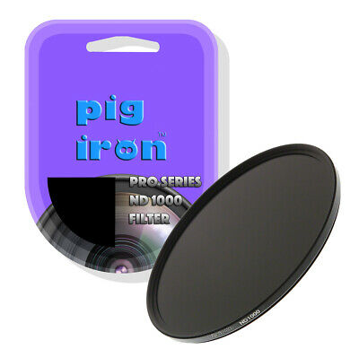 Pig Iron 82mm Pro ND1000 Filter. 10 Stop Neutral Density. High Index Glass.