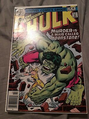 Incredible HULK 228 Trimpe. Great copy see pics. Key first moonstone At least Vf