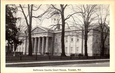 Postcard Baltimore County Court House Towson Maryland Unused
